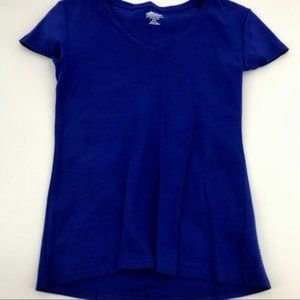 💋4/$25 Kirkland Cotton V-Neck Tee Shirt sz M EUC